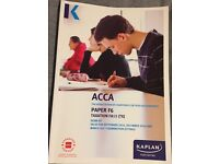 SELLING ACCA F6 EXAM KIT FOR MARCH 2017 SITTING