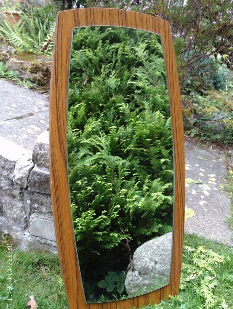 1970's vintage mirror 77 x 37 cm