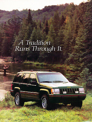Orvis Edition - 1995 Jeep Grand Cherokee Exclusive Orvis Edition Original Sales Brochure Folder
