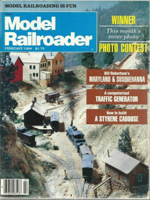 Model Railroader February 1984  D&RGW 8 Wheel Caboose & Trailer Flatcar Plans