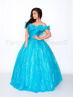 2015 Erwachsene Cinderella Kostüm Cosplay Prinzessin Kleid Größen 6/8 /10/12 ()