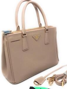 Prada Saffiano Beige Nude Tote Bag ( More Styles Colors Brands Available)