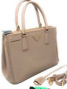 Prada Saffiano Beige Nude Tote Bag ( More Styles Available)