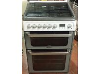 Hotpoint 60 cm wide dual fuel cooker