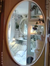 large round white mirror 68 cm diameter