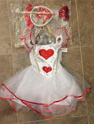 Queen Of Hearts Halloween Costume Toddler (Authentic Kid ~ CUPID Heart Fairy Queen of Hearts Halloween Costume ~ 2T 3T 4T)
