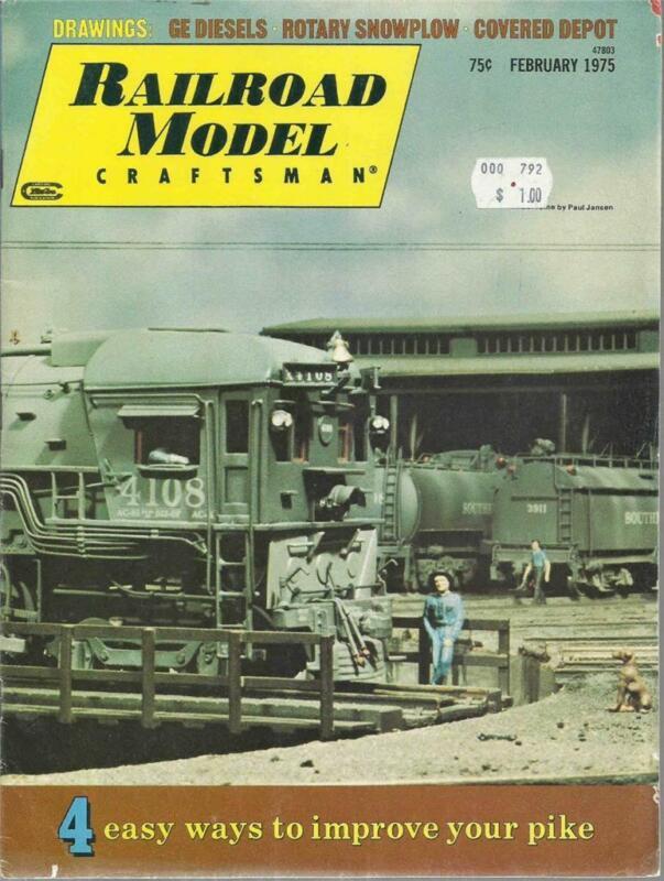 Railroad Model Craftsman February 1975 GE Diesels & CP Rotary Snowplow Drawings