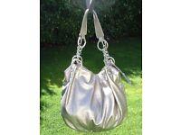NEW designer JANE NORMAN silver metallic bag