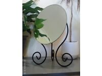 NEW oval bevelled edge tilting mirror 40 cm