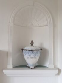 Wedgwood Campagna Millenium Dawning Urn/Vase. Limited Edition. Blue/White/Silver