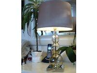 glass / chrome table lamp 50 x 29 cm