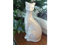 NEW grey cat ornament 28x14cm