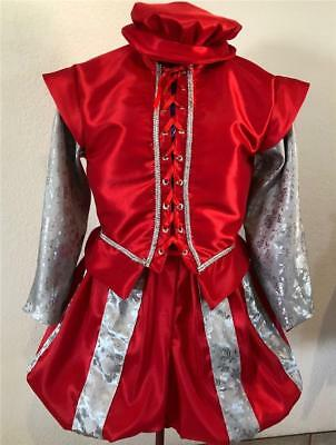 Mens Elizabethan Renaissance Shakespeare Doublet, Slops/Breeches & Hat, S - XL - Elizabethan Costumes