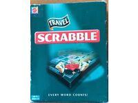 Mattel Travel Scrabble, Used