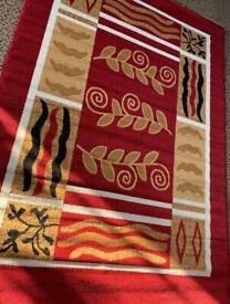 Large XL red rug 320 x 220 cm carpet