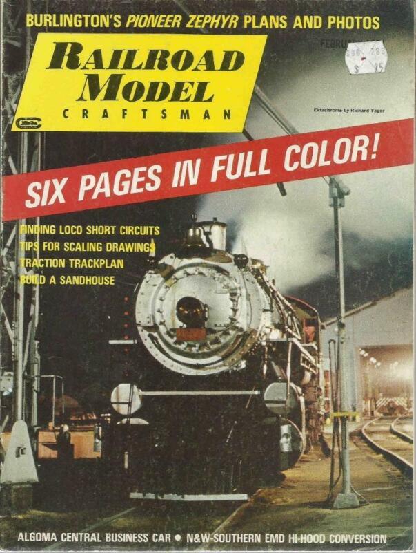Railroad Model Craftsman February 1971 Pioneer Zephyr & Algoma Agawa Drawings