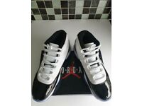 Air Jordan's 45 High Top Trainers Sneakers White Black Blue - Designer Brand - Genuine Men's