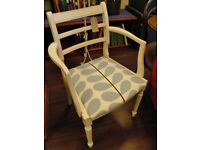 PRETTY REFURBISHED BEDROOM CHAIR - WE CAN DELIVER