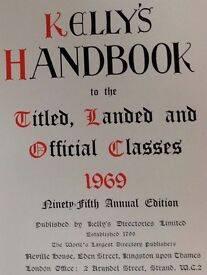 Kelly's Handbook to the Titled, Landed and Official Classes 1969