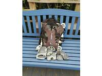 Roller blades size 4,5(37) with backpack and protections
