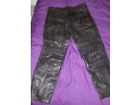 Motorcycle Leather Trousers UK 44 Waist