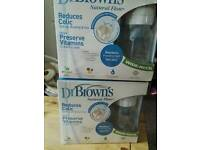Dr browns anti colic bottles x2 new and sealed