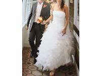 Vera Wang wedding dress roughly a size 10