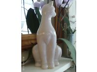 NEW M&S grey sitting cat ornament 28x14cm