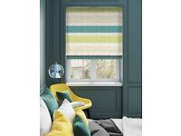 brand new Roman blinds, 233cm width x 125cm drop (exact) Thermal Lining, Left hand control