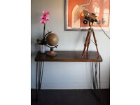 75cm Industrial Console Table Mid Century Modern Style hairpin Table