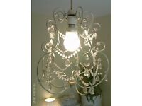 NEW elegant ornate chandelier 38 x 30 cm