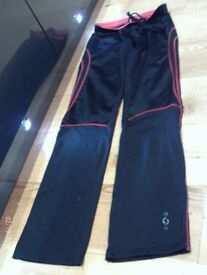 training trousers size 10 , black with red trim