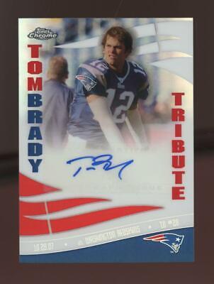 2006 Topps Chrome Tribute Refractor Tom Brady Auto Autograph