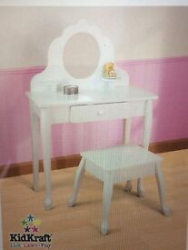 Child's Vanity table and stool