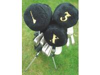 Full Set Mitsushiba Golf clubs: Irons, Woods, Putter, Golf bag, balls, tees