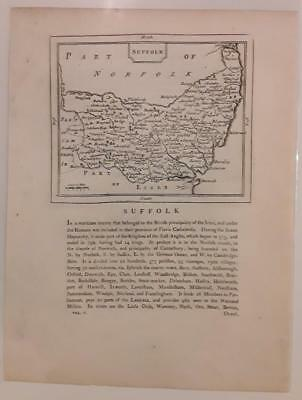 c1780s; Suffolk, England; Antique Map; John Seller/ Francis Grose