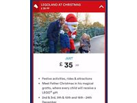 Tickets (2adults +3kids) to Legoland Windsor Christmas Experience December 9th 2017 reduced to £125