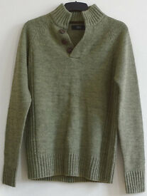 Next Men Casual Wear Grey Jumper Pullover Size S