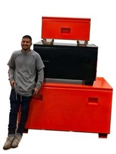 NEW JOB SITE TOOL TOOL BOXES ORANGE & BLACK JOB BOX AS LOW AS $179.95
