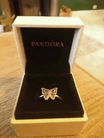 Pandora butterfly ring size 58 REDUCED