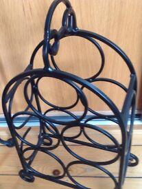 Wrought iron wine rack