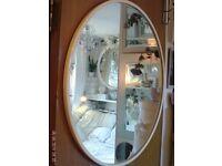 large round white mirror 68 cm diameter