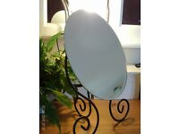 NEW oval bevelled edge tiltins mirror 40cm