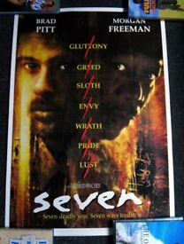 Seven, Heat, Braveheart, Natural Born Killers - 4 poster collection
