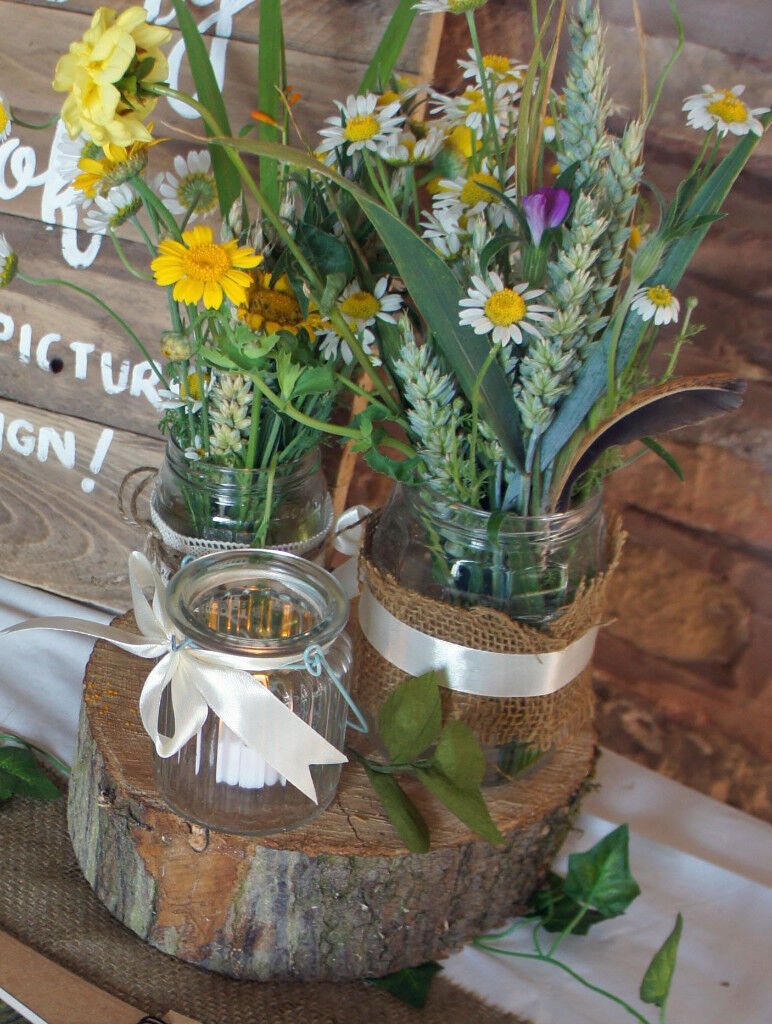 Decorated Jars Perfect For Flowers As Wedding Decorations Table
