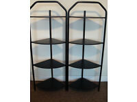 black set of furniture office/home/garage shelfs chair