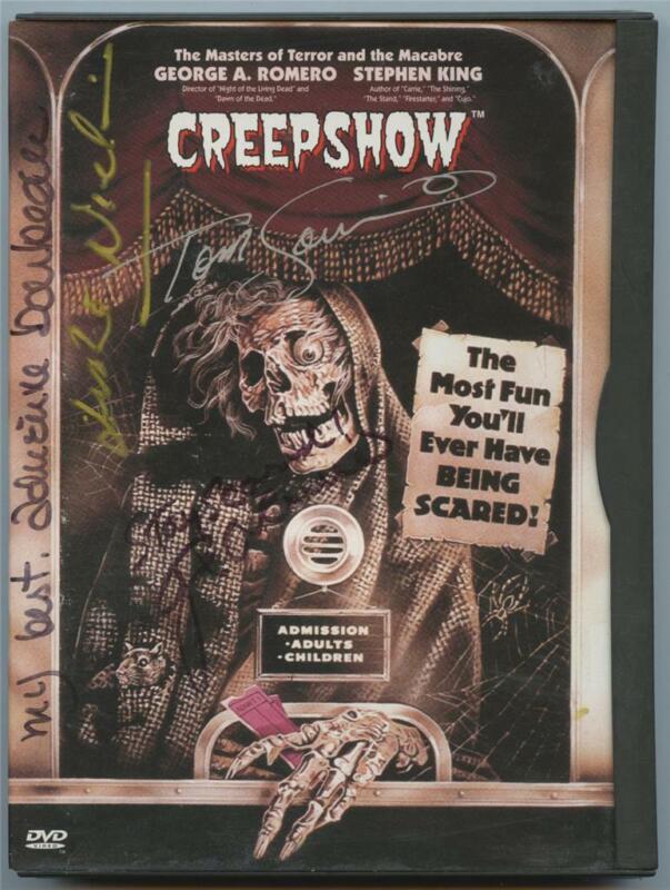 Leslie Nielsen George Romero Adrienne Barbeau Tom Savini Signed Creepshow DVD