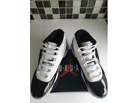 Air Jordan's 45 High Top Trainers Sneakers White Black Blue - Designer Brand - Genuine Men's