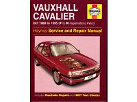 HAYNES VAUXHALL CAVALIER SERVICE REPAIR MANUAL 1988 to 1995 PETROL MODELS