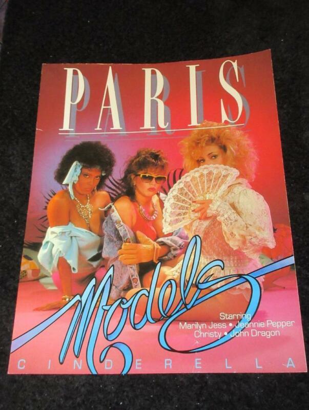 JEANNIE PEPPER/SAMANTHA STRONG PROMO AD SLICK-Paris Models/Cinderella 1986